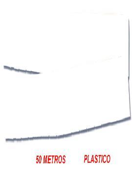 fleco de plastico blanco para fiestas de 50 m