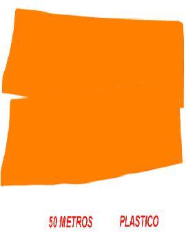 fleco de plastico naranja para fiestas de 50 m