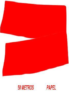 fleco de papel blanco para fiestas de 50 m