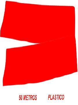 fleco de plastico rojo para fiestas de 50 m
