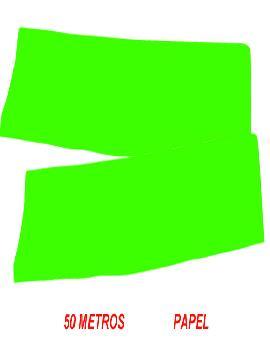 fleco de papel verde para fiestas de 50 m