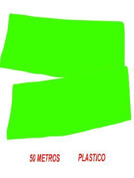 fleco de plastico verde para fiestas de 50 m
