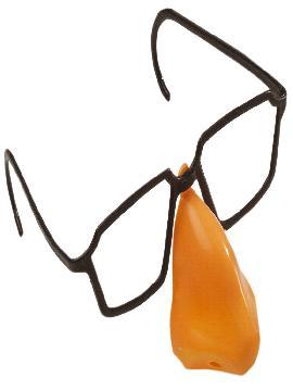 12 gafas de plastico con nariz de broma para fiestas