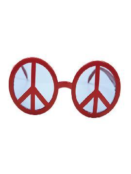 gafas con simbolo de la paz rojas