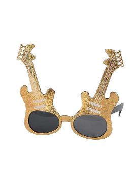 gafas de guitarra doradas