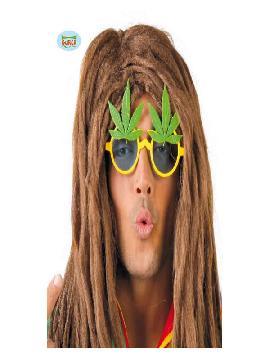 gafas de hojas marihuana