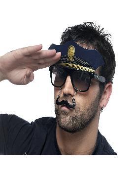 gafas de policia con bigote originales