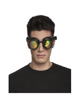 gafas de steampunk negras con pinchos