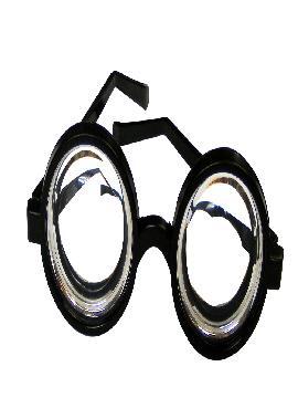 gafas de tonto lentes gruesas plastico