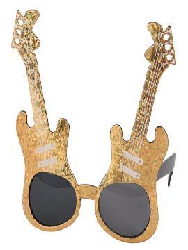gafas guitarra rey del rock metalizadas