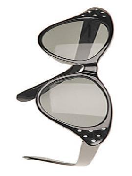 gafas negras con diamantes