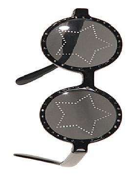 gafas negras con estrellas plastico