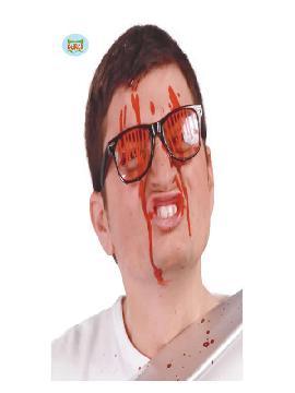 gafas negras con sangre