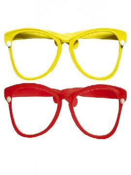 gafas gigantes amarillas de payaso
