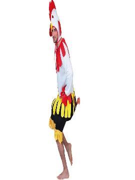 disfraz de gallo blanco adulto para hombre. Este cómico y gracioso traje es perfecto para sorprender en tus Fiestas de Disfraces, Despedidas o Carnaval. Júntate con la gallina y los pollitos y forma una graciosa comparsa animal.Este disfraz es ideal para tus fiestas temáticas de disfraces de animales para hombre adultos.