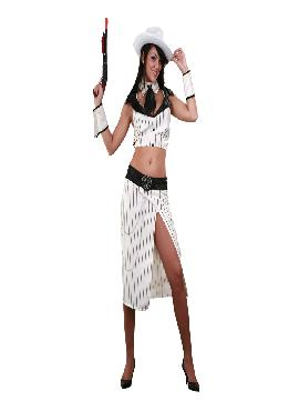 disfraz de ganster blanco sexy para mujer