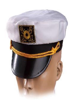 gorra capitan de barco blanco