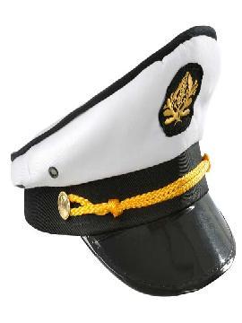 gorra capitan marinero blanca