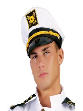 gorra de capitán de yate adulto