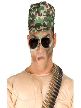 gorra de militar con camuflaje adulto