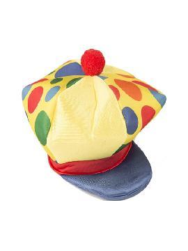gorra de payaso a lunares