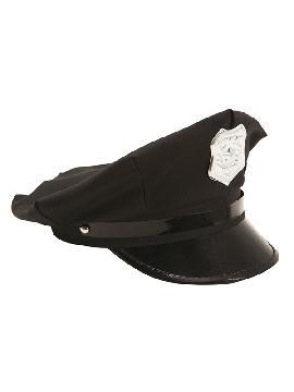 gorra de policia con insignia