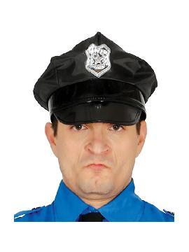 gorra negra policia adulto