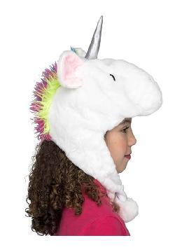 gorrito de unicornio blanco con cuerno