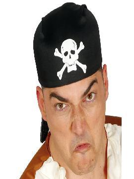 gorro o bandana de pirata negro tela