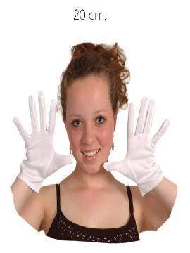 guante blanco corto 20 cm