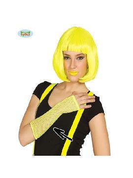 guante de malla amarillo neon 26 cms