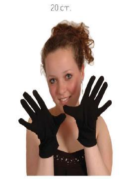 guante negro corto 20 cm