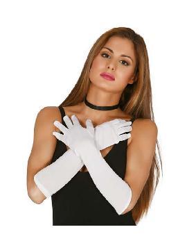 guantes blancos 45 cms largos