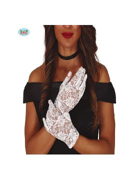 guantes calados blancos 22 cms