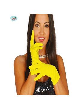 guantes cortos amarillos 20 cms