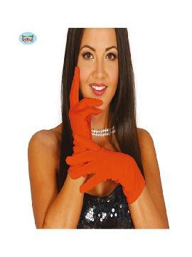 guantes cortos naranja 20 cms