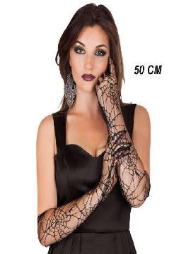 guantes de araña negros 50 cm