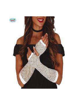 guantes de malla blancos 26 cms