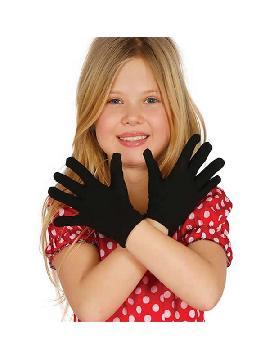 guantes negros infantiles de 22 cm