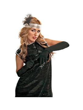 guantes negros lisos 45 cm