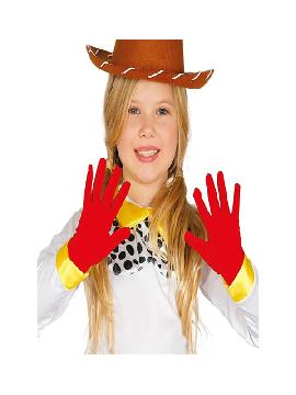 guantes rojos infantiles de 17 cm