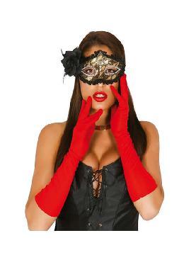 guantes rojos largo 45cms