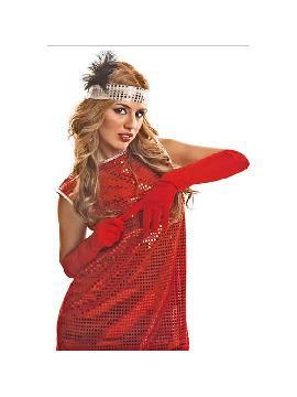 guantes rojos lisos 45 cm