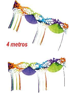 guirnalda avanicos de colores 4 metros