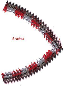 12 guirnaldas blancas y rojas 17x12 cm 4 metros