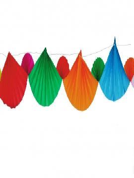 guirnalda con abanicos de colores papel 4 metros
