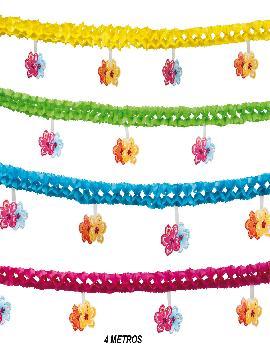 guirnaldas flores colores 4 metros para fiestas