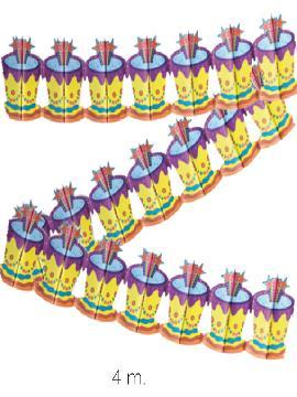 12 guirnaldas con sombreros de 4 metros
