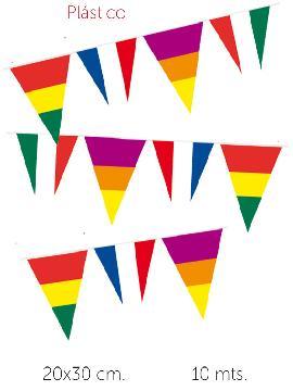 6 banderas triangulos de paises 10 m de 20x30 cm