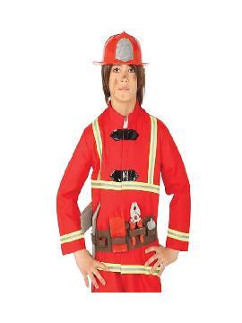 kit de bombero con casco